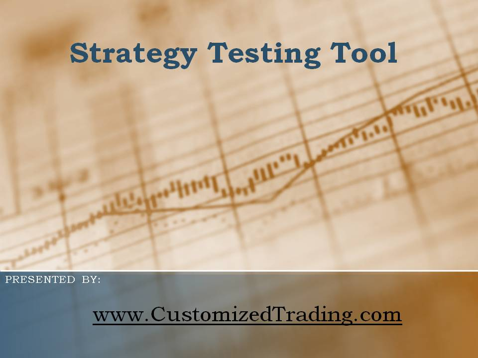 Backtest trading strategies free